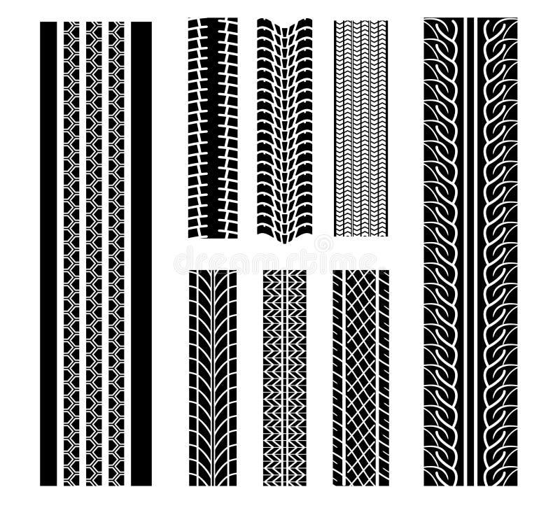 Configurations de pneu illustration libre de droits