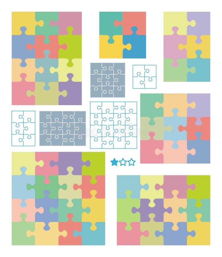 Configurations de puzzle illustration de vecteur