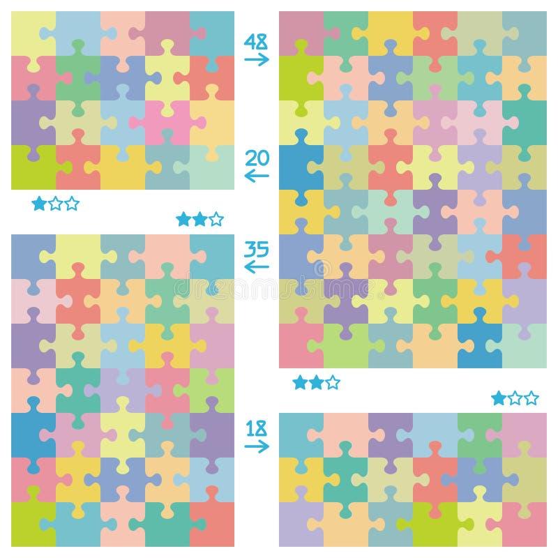 Configurations de puzzle illustration stock