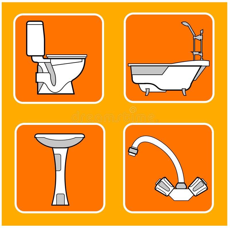 Configurations de salle de bains illustration libre de droits