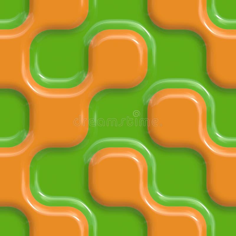 Configurations en céramique colorées illustration stock