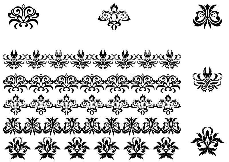 Configurations et cadres de fleur illustration stock