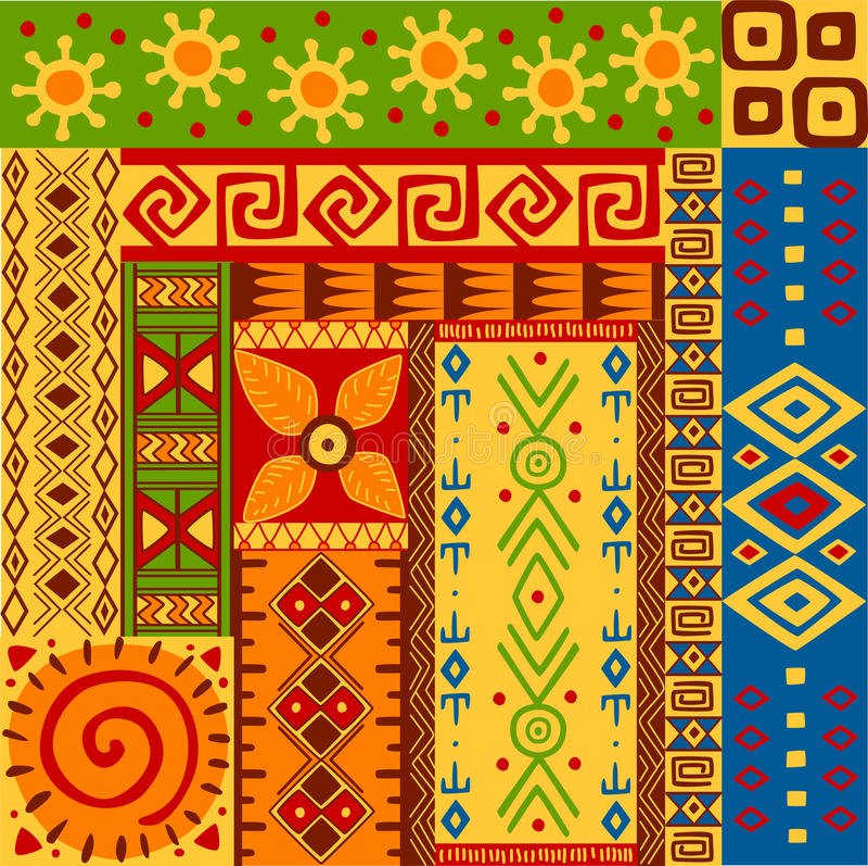 Configurations ethniques illustration stock