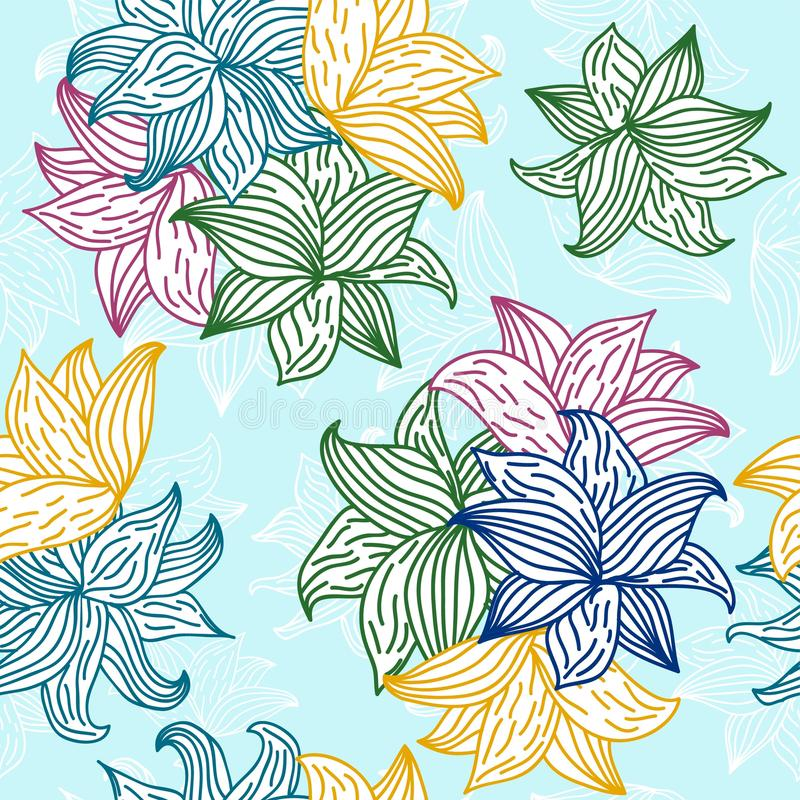 Configurations florales sans joint illustration libre de droits