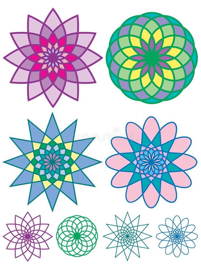 Configurations géométriques colorées illustration de vecteur