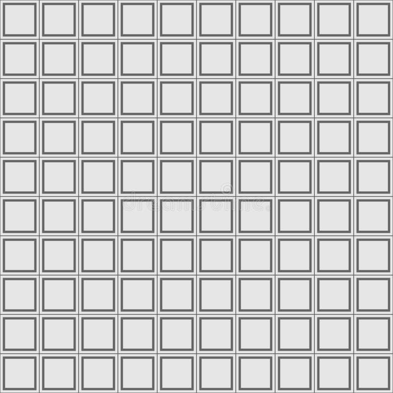 Configurations géométriques sans joint réglées Texture grise et blanche pour votre conception illustration stock