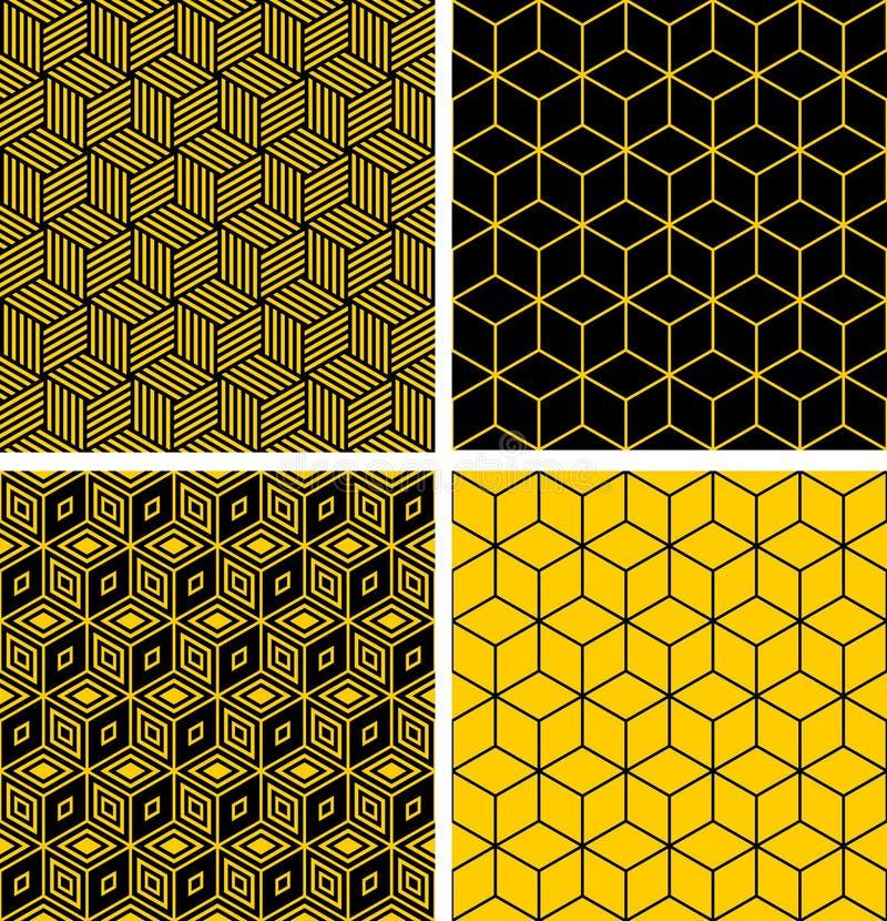 Configurations sans joint avec l'effet d'illusion optique. illustration de vecteur