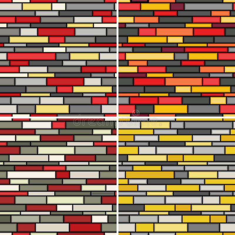 Configurations sans joint de mur illustration stock