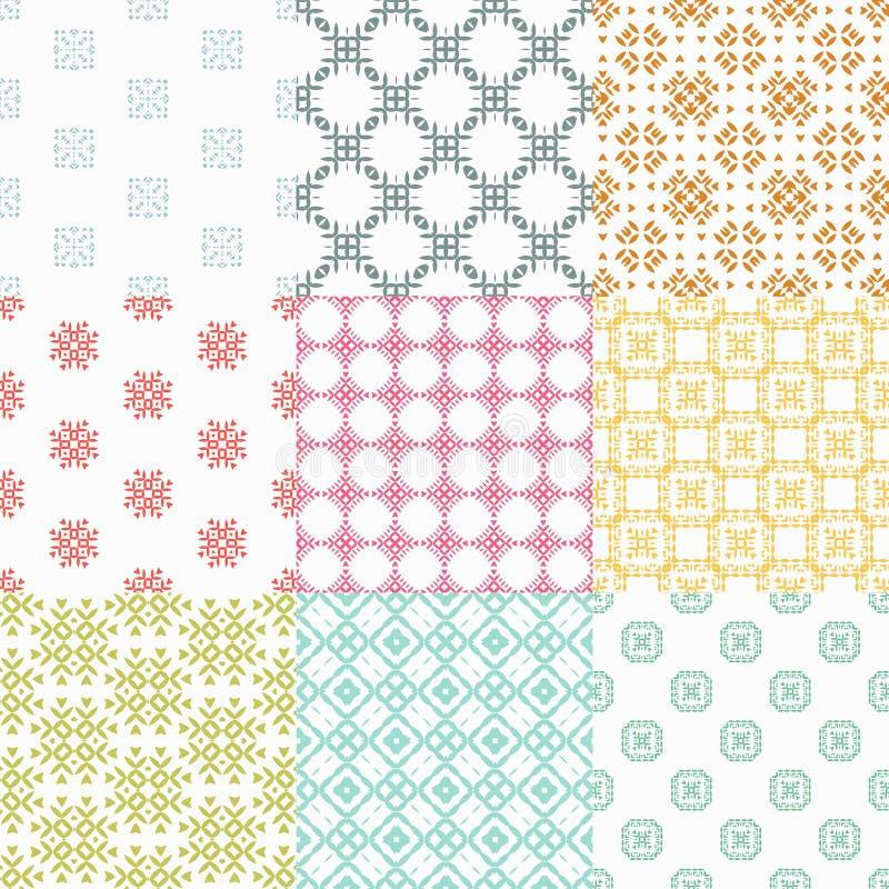 Configurations sans joint géométriques illustration stock