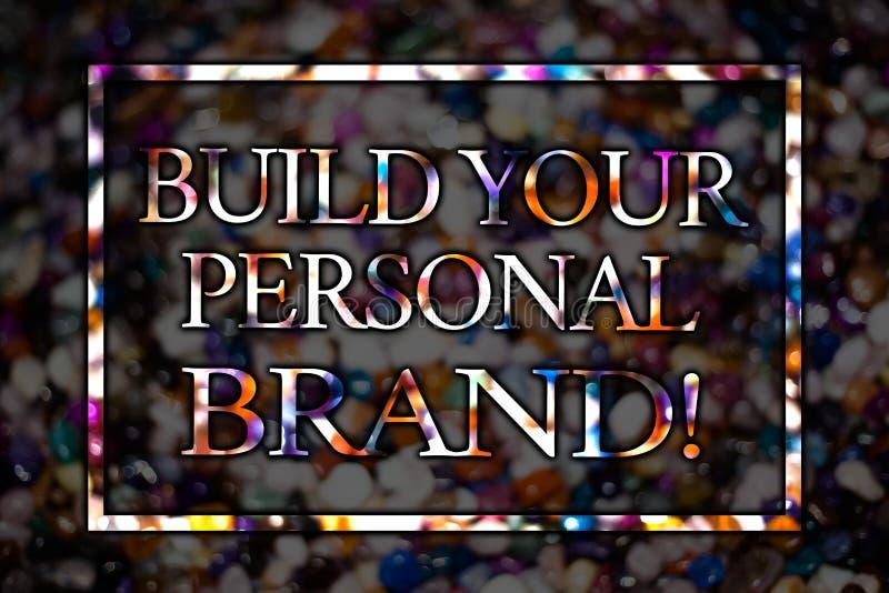 Configurazione di rappresentazione del segno del testo la vostra chiamata motivazionale di marca personale Foto concettuale che c immagine stock