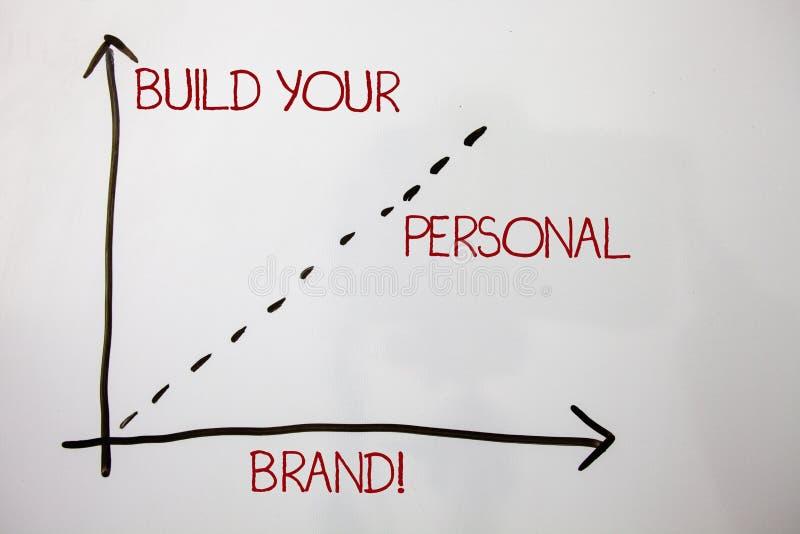 Configurazione di rappresentazione della nota di scrittura la vostra chiamata motivazionale di marca personale Foto di affari che fotografie stock