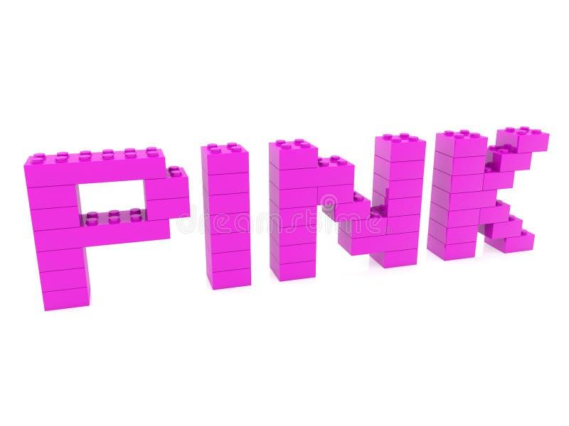 Configurazione rosa di concetto dai mattoni del giocattolo illustrazione vettoriale