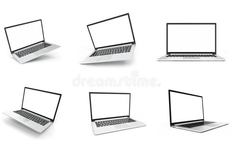 Configure a zombaria da placa do computador de secretária Zombaria lustrosa do laptop acima Zombaria moderna do computador acima  ilustração royalty free