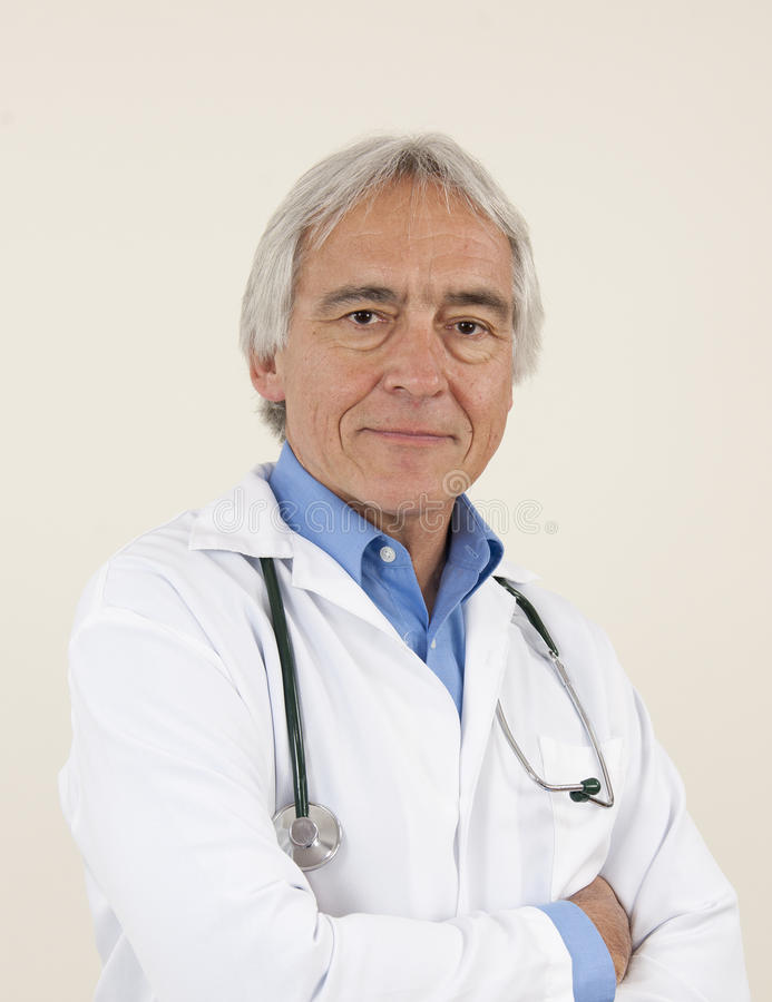 Confindent senior male doctor royalty free stock photos