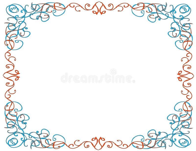 Confine capriccioso, fondo bianco illustrazione vettoriale