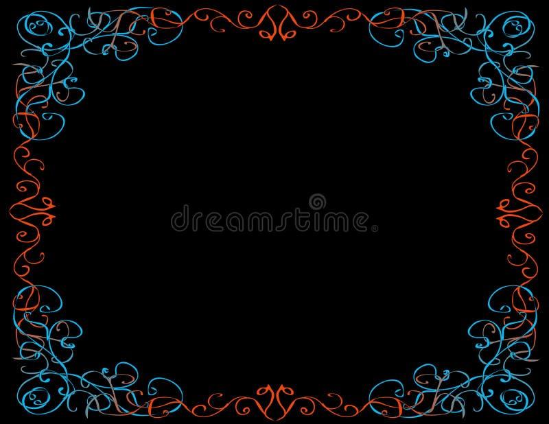 Confine capriccioso, fondo nero illustrazione vettoriale