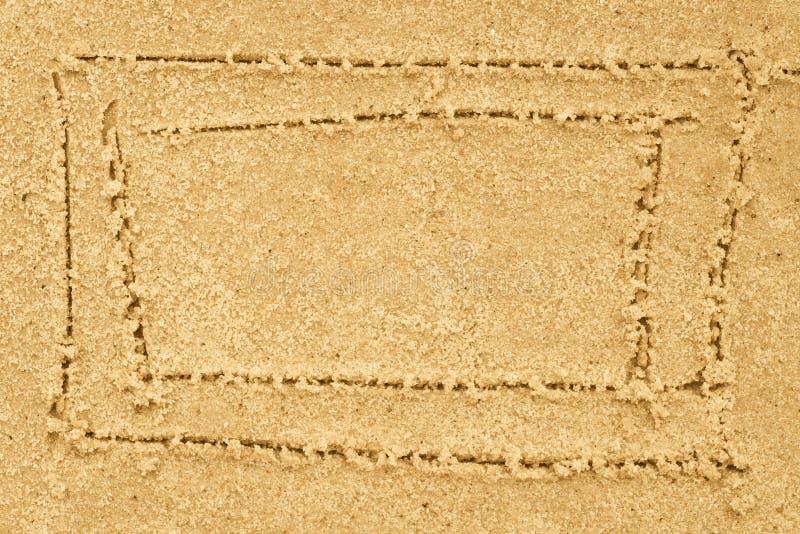 Confine che assorbe sabbia fotografia stock