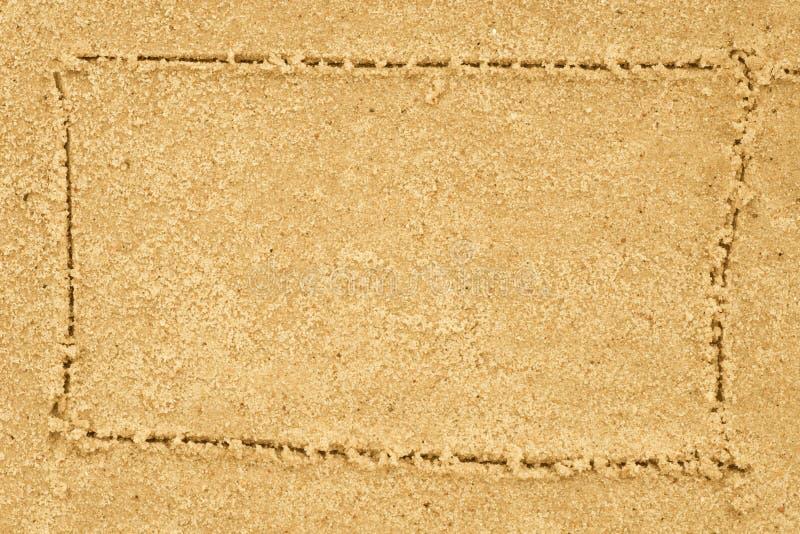 Confine che assorbe sabbia fotografie stock libere da diritti