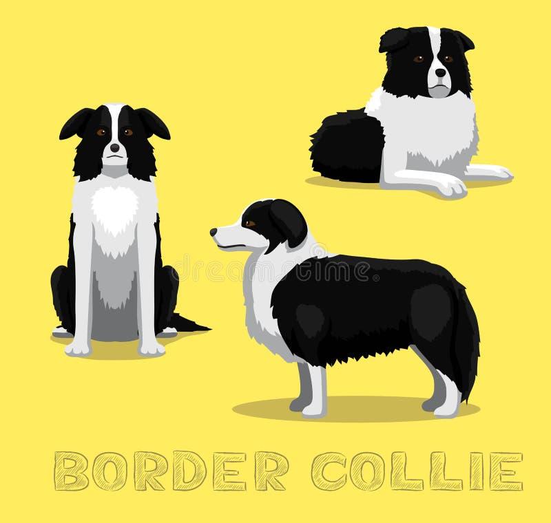 Confine Collie Cartoon Vector Illustration del cane fotografia stock