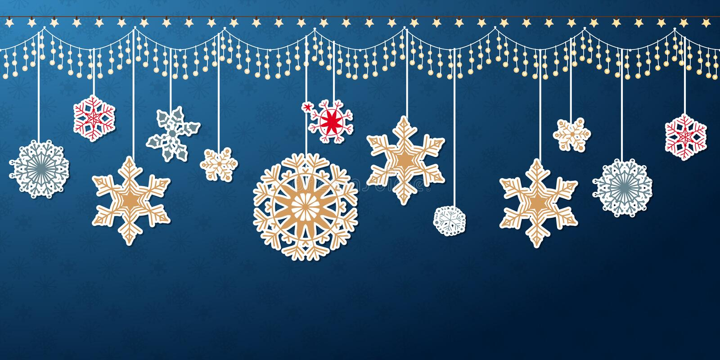 Confine d'attaccatura del fiocco di neve di Natale illustrazione vettoriale