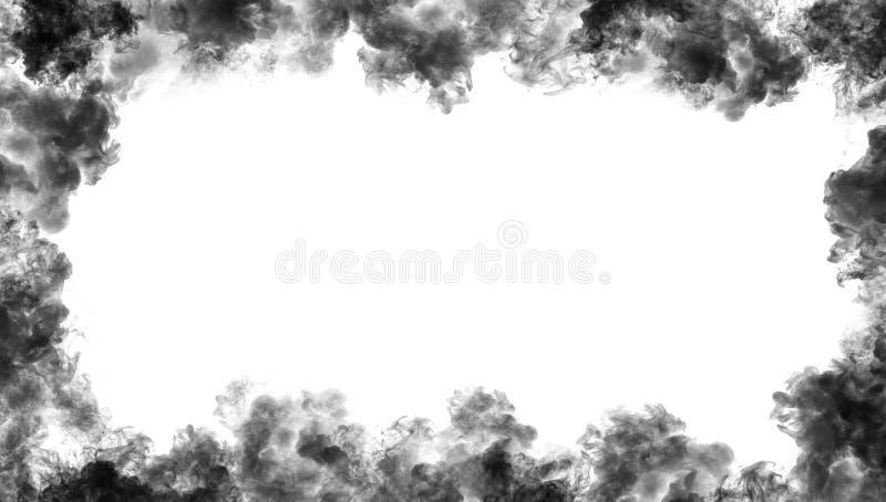 Confine da fumo Effetto nebbioso per il film, il testo o lo spazio illustrazione di stock