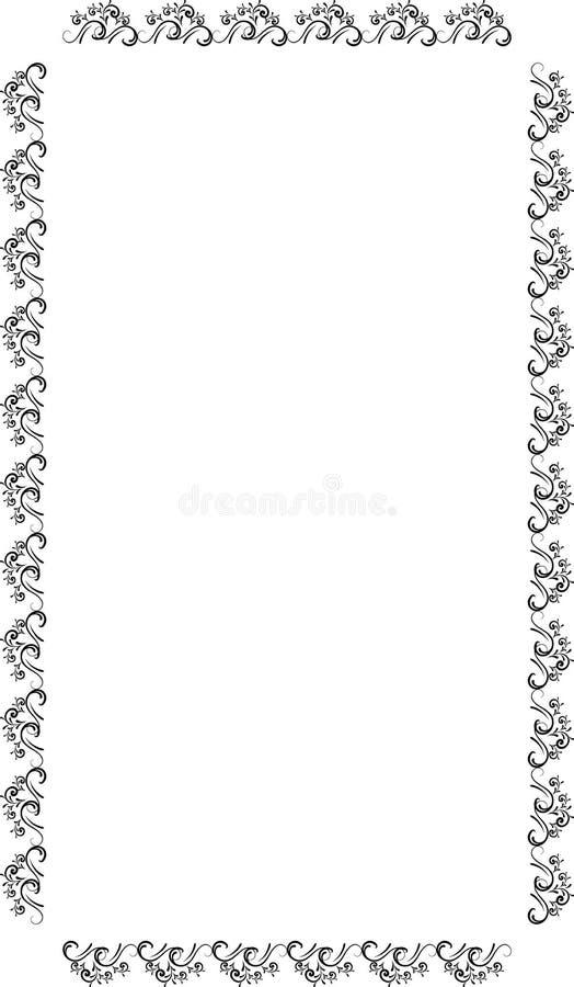 Confine decorativo della struttura Struttura di vettore su carta royalty illustrazione gratis
