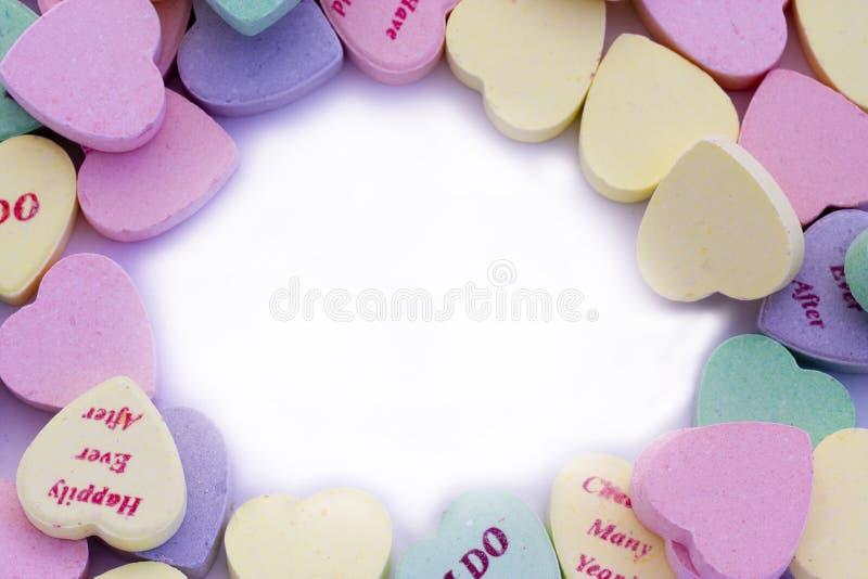 Confine Dei Cuori Di Candy Immagini Stock Gratis