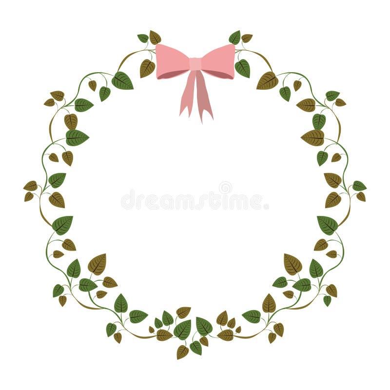 confine dei rampicanti con l'arco rosa royalty illustrazione gratis