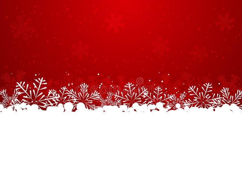 Confine del fiocco di neve di Natale illustrazione di stock