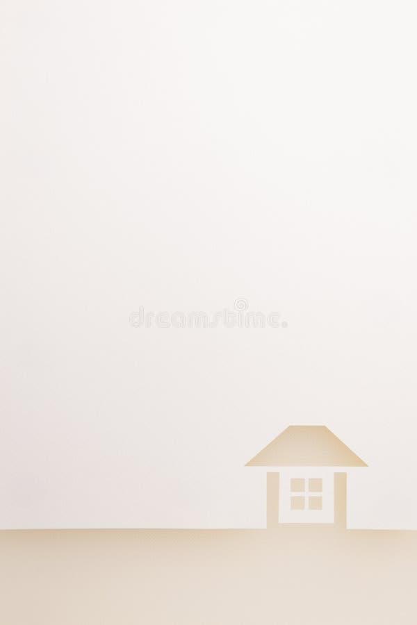 Confine del fondo completo della casa di struttura bianca fotografia stock libera da diritti