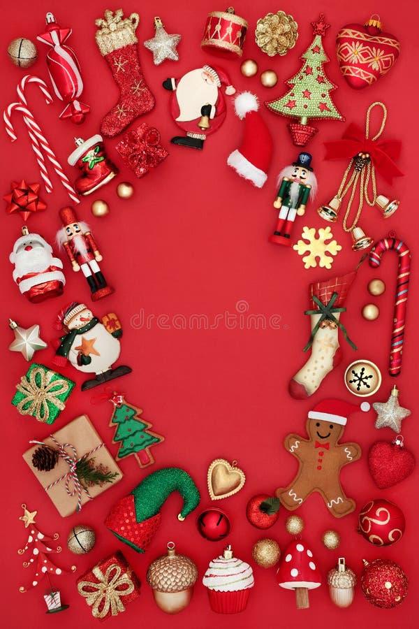 Confine del fondo di Natale immagini stock libere da diritti