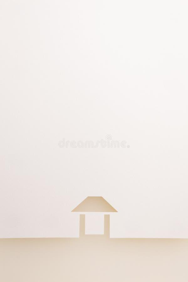 Confine del fondo facile della casa di struttura bianca immagine stock