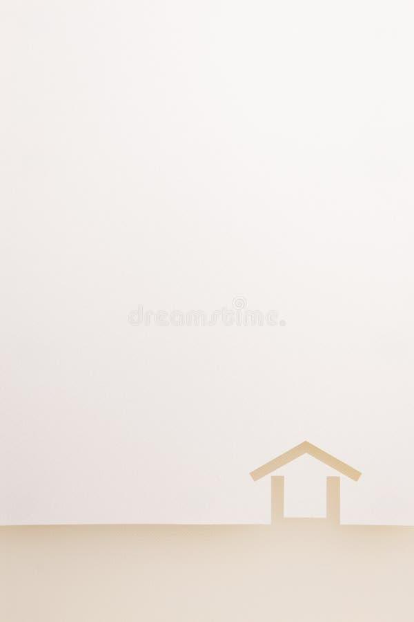 Confine del fondo minimo della casa di struttura bianca immagini stock