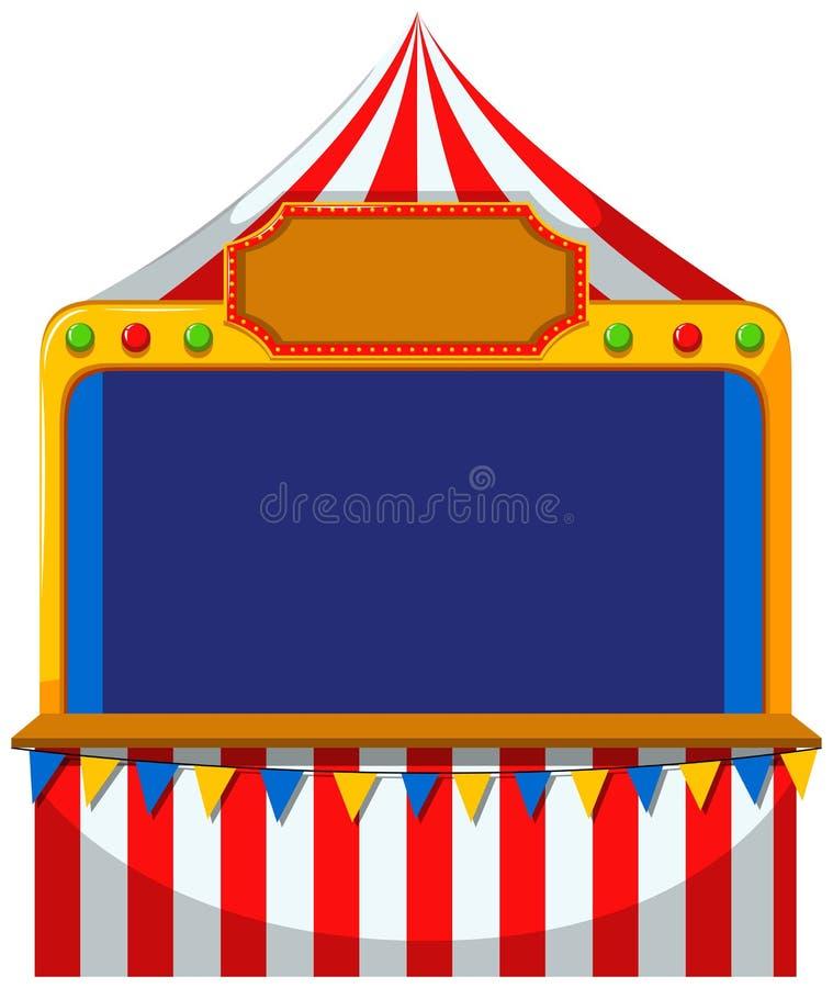 Confine del gioco alla tenda royalty illustrazione gratis