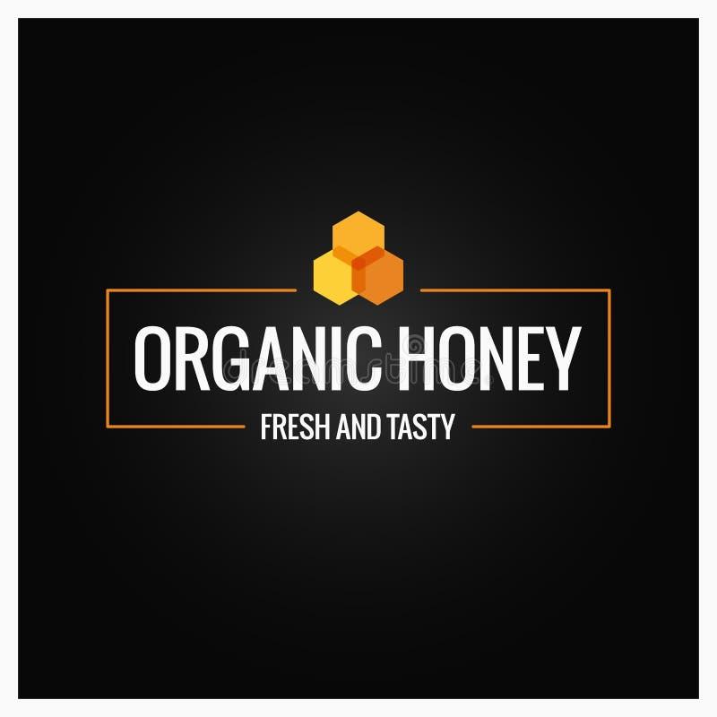 Confine del pettine del miele Segno organico del miele su fondo nero royalty illustrazione gratis