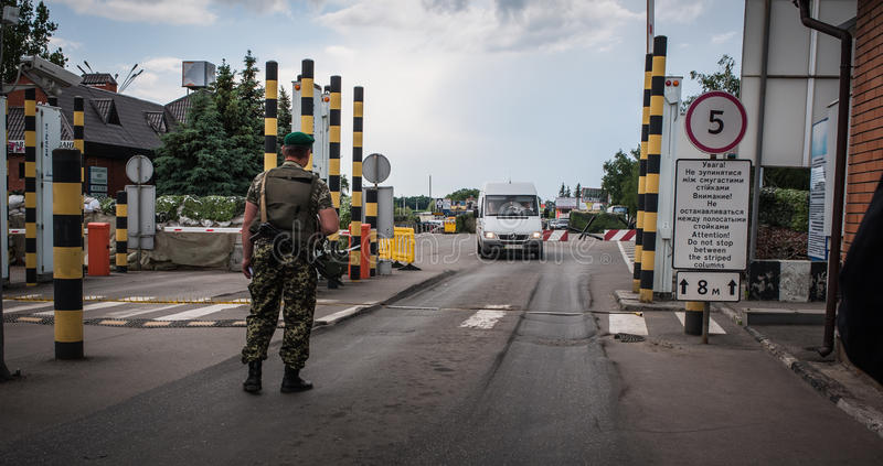 Confine dell'Russia-Ucraina fotografia stock libera da diritti