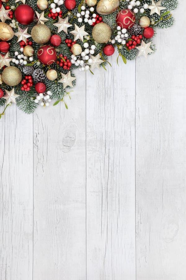 Confine della bagattella di Natale fotografie stock libere da diritti