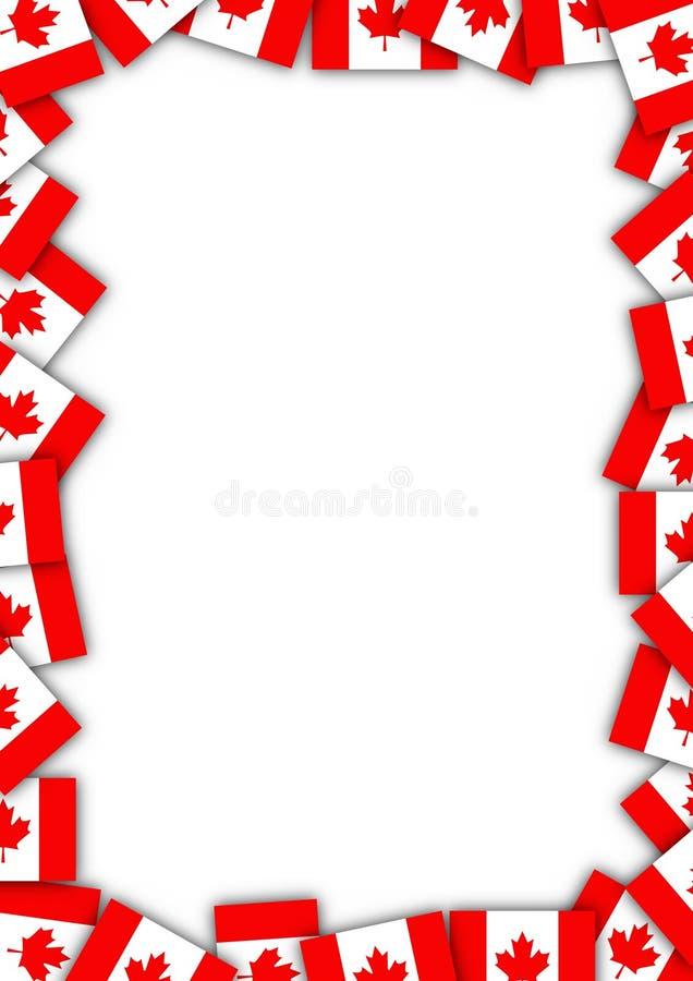 Confine della bandiera del Canada illustrazione di stock