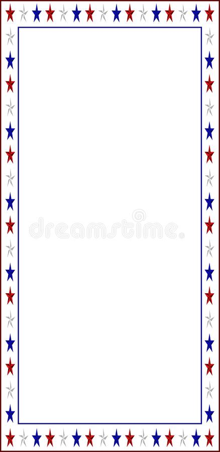 Confine della lettera con i colori americani illustrazione di stock