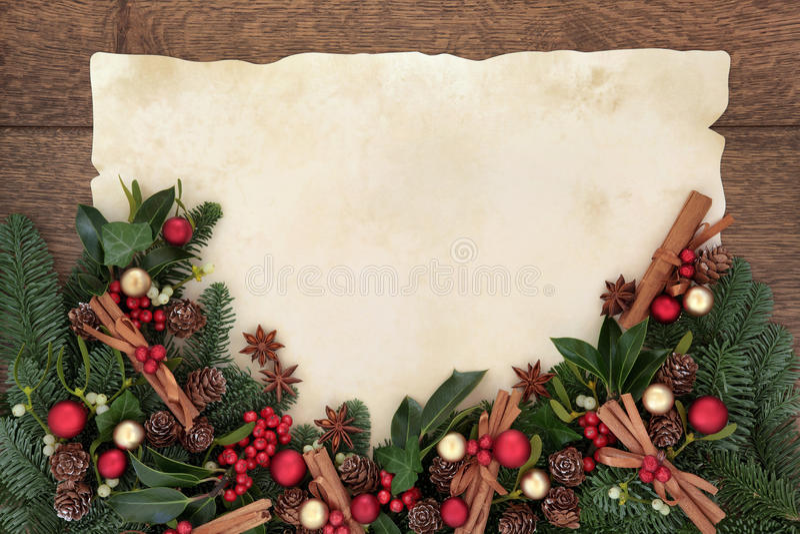 Confine della spezia di Natale immagini stock