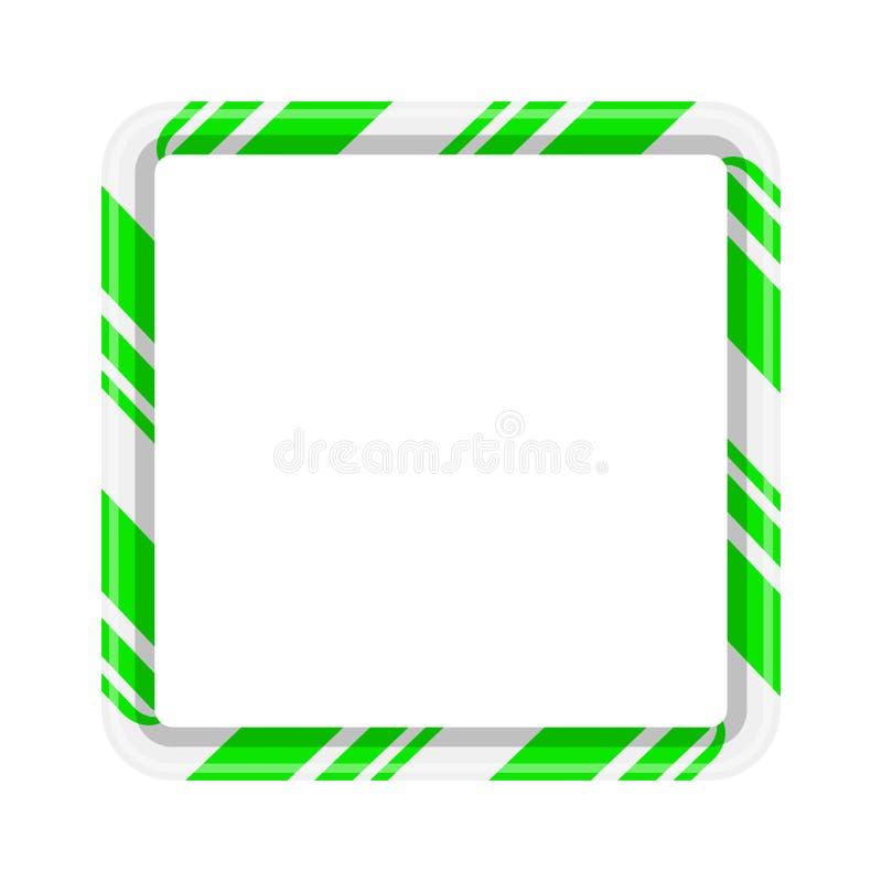 Confine della struttura del bastoncino di zucchero per progettazione di natale isolato sulla b bianca royalty illustrazione gratis