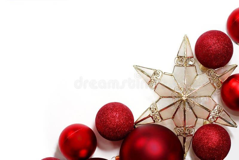 Confine delle decorazioni di Natale per la cartolina d'auguri immagine stock libera da diritti