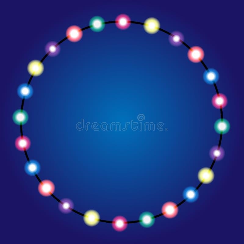 Confine delle luci di Natale royalty illustrazione gratis