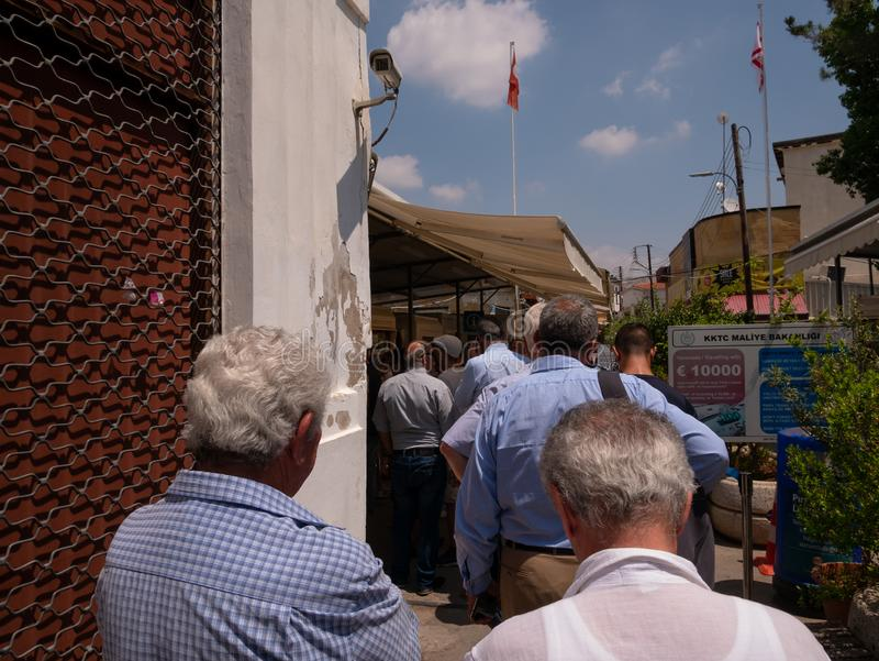 Confine di Nicosia immagine stock