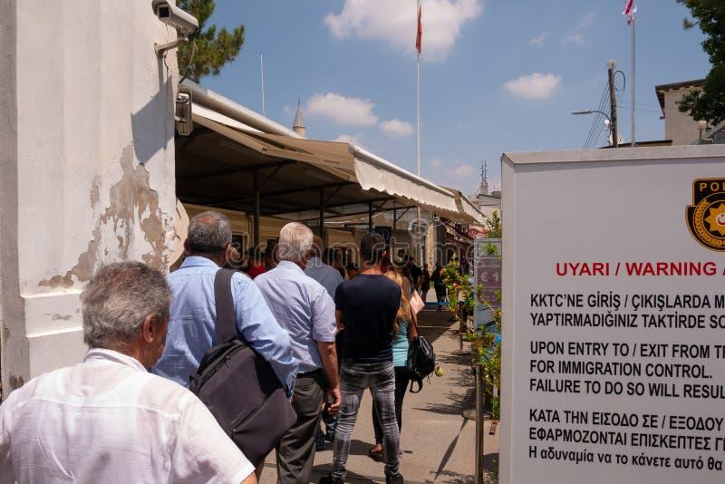 Confine di Nicosia immagine stock libera da diritti