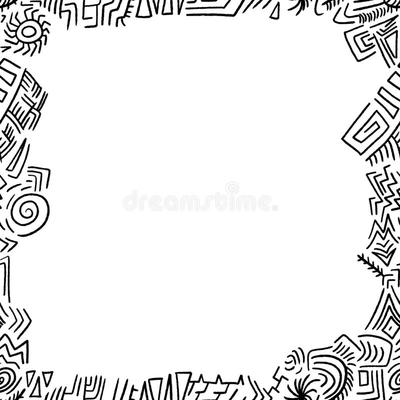 Confine di scarabocchio illustrazione vettoriale