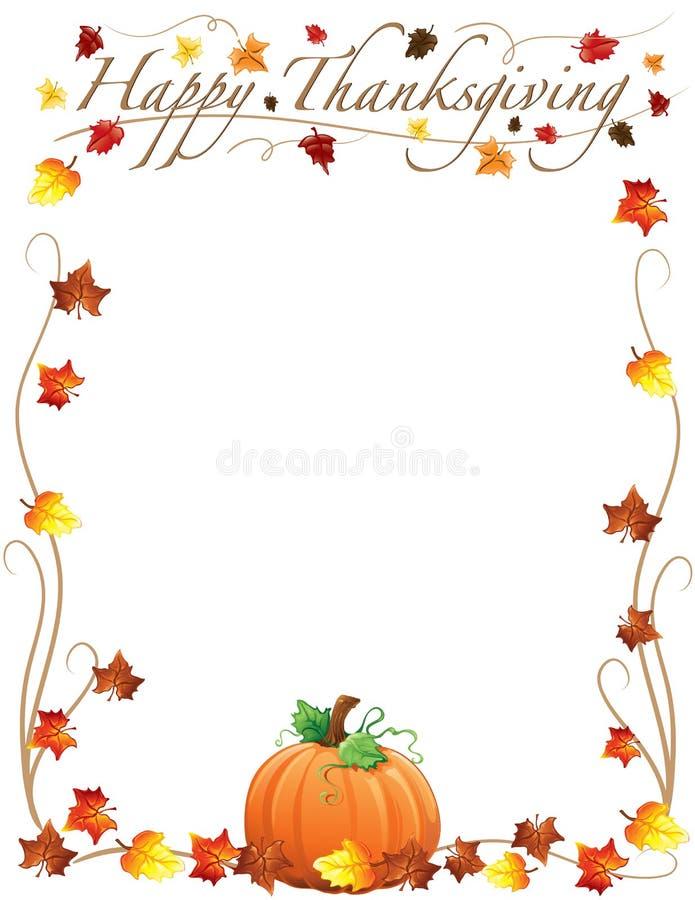 Confine felice di ringraziamento