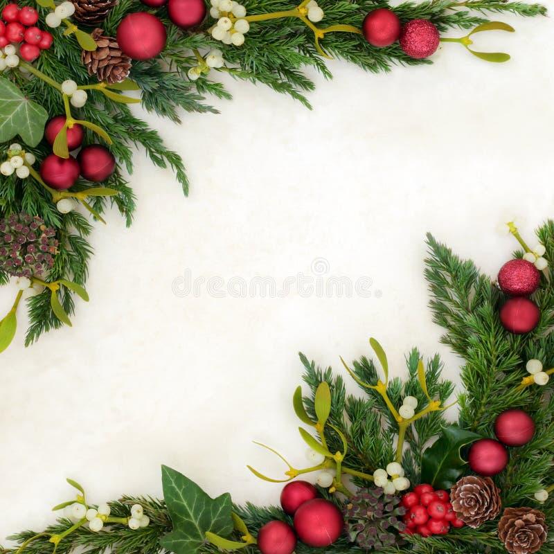 Confine festivo del fondo di Natale fotografie stock libere da diritti
