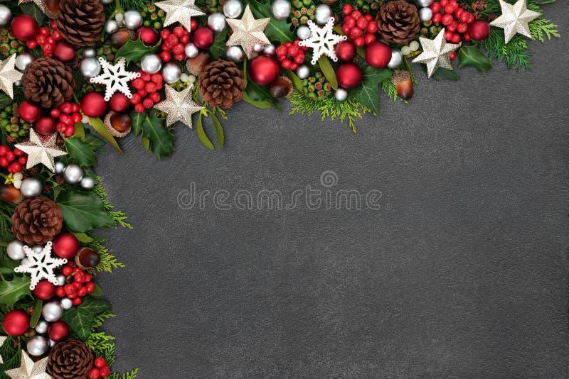 Confine festivo del fondo di Natale immagini stock