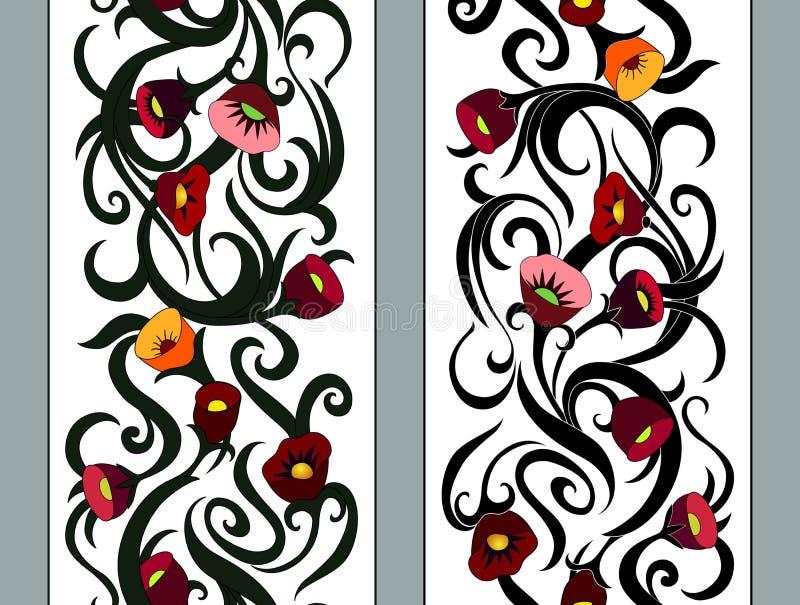 Confine floreale senza cuciture verticale royalty illustrazione gratis